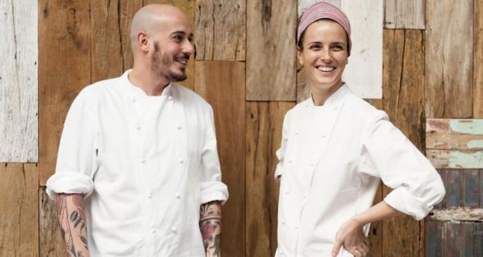 O casal, Daniel Redondo e Helena Rizzo (Maní) - Um dos 50 melhores restaurantes do mundo.