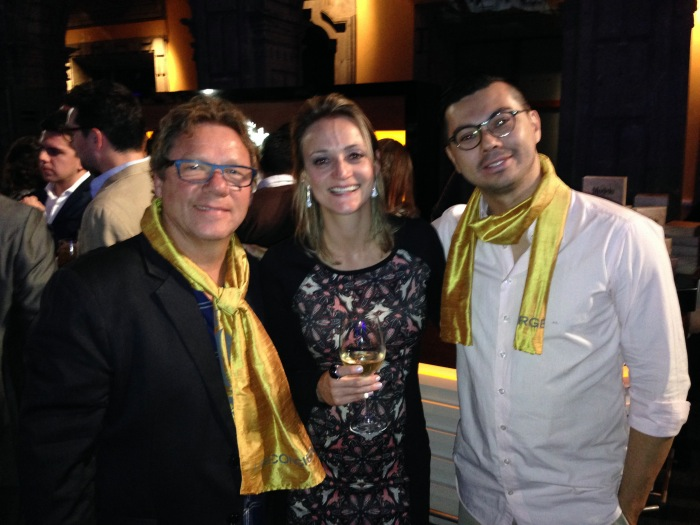 Com Claude Toigros (Olympe) e Alberto Landgraf (Epice)