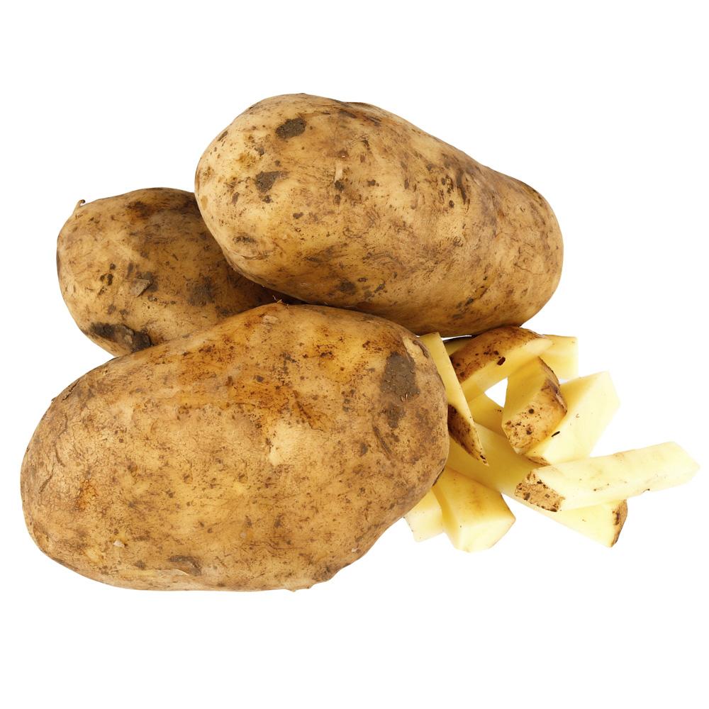 batata não lavada